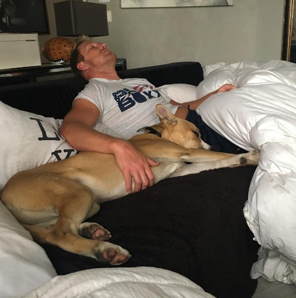 Kroy Naps With The Dog